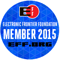Electronic Frontier Foundation supporter